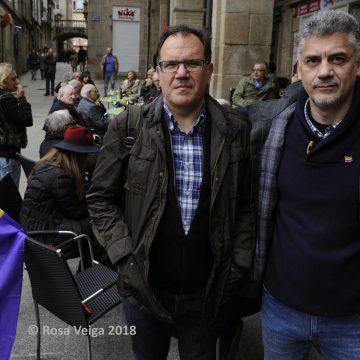 Xosé Lois Gómez busca na cidade de Ourense ás familias de 43 fusilados