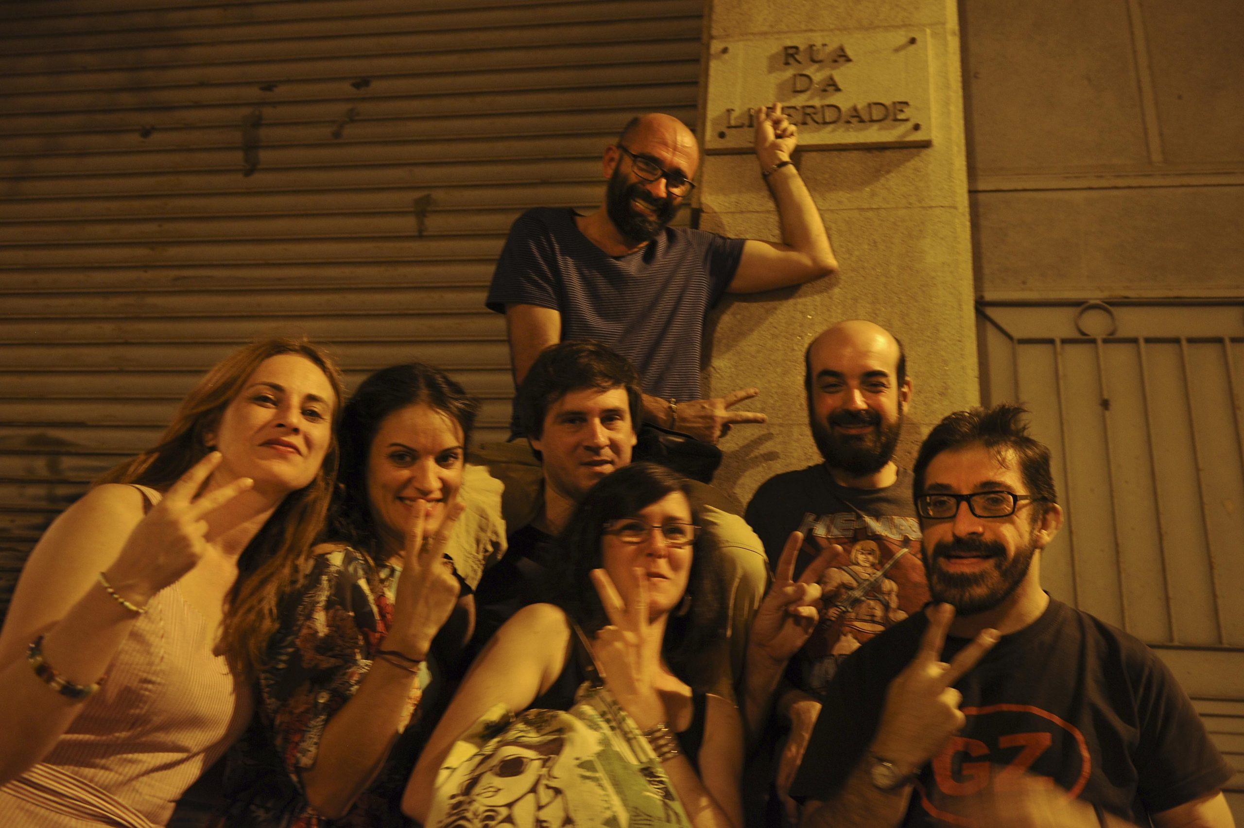 """Manuela """"Nolas"""", Alba, Diego, Fran, Idoai e Rober"""